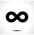 infinity symbol icon vector image vector image