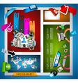 Infographic teamwork Banner Set and brainstorming vector image vector image