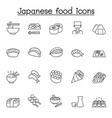 Japanese food line icon