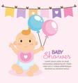 little baby shower card vector image