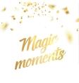 Magic moments card vector image