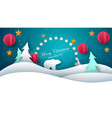 merry christmas happy new year - paper vector image
