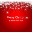 merry christmas the background is gently red vector image vector image