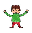 mexican man cartoon standing character vector image vector image