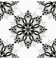 monochrome seamless pattern vintage decorative vector image vector image