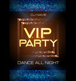 neon sign vip party disco poster vector image vector image