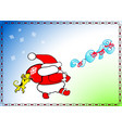 new year christmas santa claus goes wears gifts vector image vector image