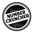number cruncher advertising sticker vector image vector image