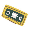 old audio cassette recording 90s music tape vector image vector image