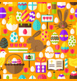 orange easter seamless pattern vector image vector image