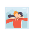photo loving couple young man taking selfie vector image vector image