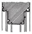 pier-arch molding base built vintage engraving vector image vector image