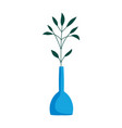 plants in vase decoration isolated icon on white vector image vector image