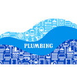 plumbing background design vector image vector image