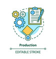 production concept icon manufacturing process vector image