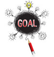 red pencil idea concept red goal business vector image vector image
