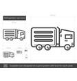 refrigerator van line icon vector image