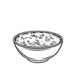 rice bowl with chinese vertical chopsticks vector image