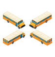 school bus isometric various views of school bus vector image vector image