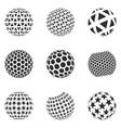 set minimalistic shapes vector image