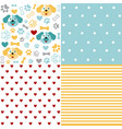 set of animal seamless patterns with dog vector image vector image