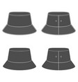 set silhouettes with a panama hat vector image vector image