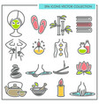 spa procedures and services themed icons vector image vector image