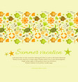 summer background decorated nautical ornament vector image vector image