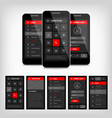 template mobile user interface vector image vector image