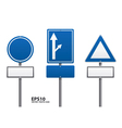 Traffic sign blue color