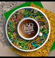 up of coffee and india doodles on a saucer vector image vector image