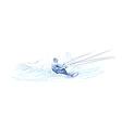 water skier vector image
