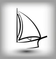 yacht logo templates sail boat silhouettes vector image vector image