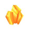 yellow mineral crystal gem precious gemstone or vector image vector image