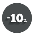 10 percent discount sign icon Sale symbol vector image vector image