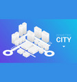 abstract 3d isometric city with roads and vector image vector image