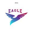 abstract eagle bird fly catch logo vector image vector image