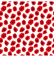 abstract flower poppy seamless pattern background vector image