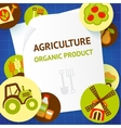 Agriculture background template vector image vector image