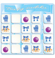 baby sudoku with colorful christmas symbols