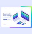 banner of responsive web design vector image