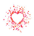 big heart is torn to pieces vector image vector image