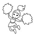 black and white a cheerleader vector image vector image