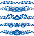Blue floral design elements and page decoration to vector image