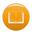 book dictionary icon orange vector image vector image