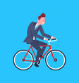 business man riding bicycle office worker vector image