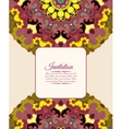 Card or invitation Vintage decorative ornament vector image vector image