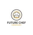 chef hat headgear cook kitchener chef logo vector image vector image