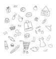 collection of items from the shopping areas vector image vector image