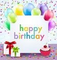 Color Birthday Card vector image vector image